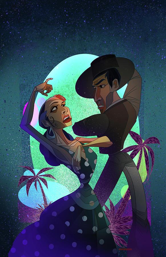 Flamenco Digital Art - Baile De Amor by Nelson Dedos Garcia