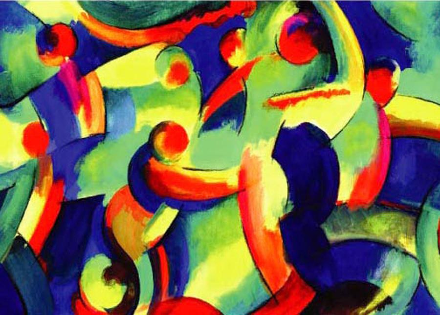 Abstract Drawing - Baile Del Universo by John Crespo Estrella