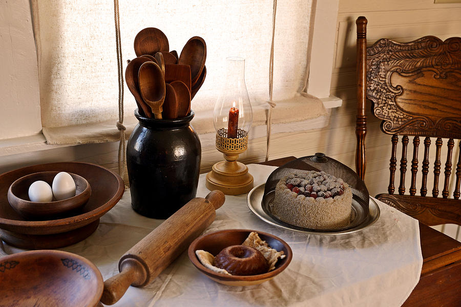 Antique Kitchen Photograph - Baked Goods by Carmen Del Valle