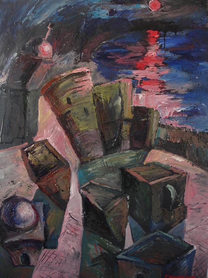 Landscape Painting - Baku by Tural Hasanli
