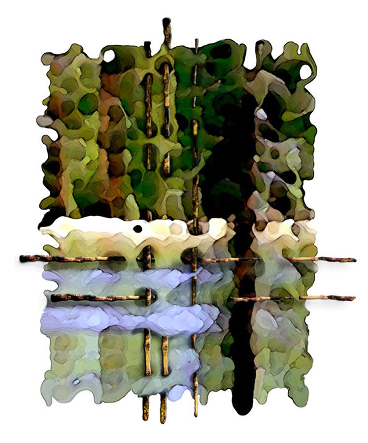 Abstract Digital Art - Balance Of Nature by Brenda Leedy
