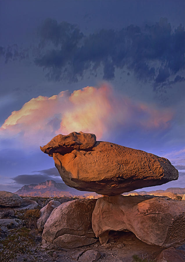 Balancing Rock Formation, Guadalupe Photograph by Tim Fitzharris