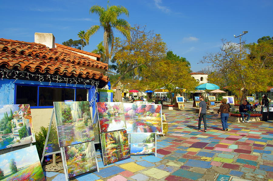 Balboa Park Spanish Village Art Center Photograph By Jeff Lowe