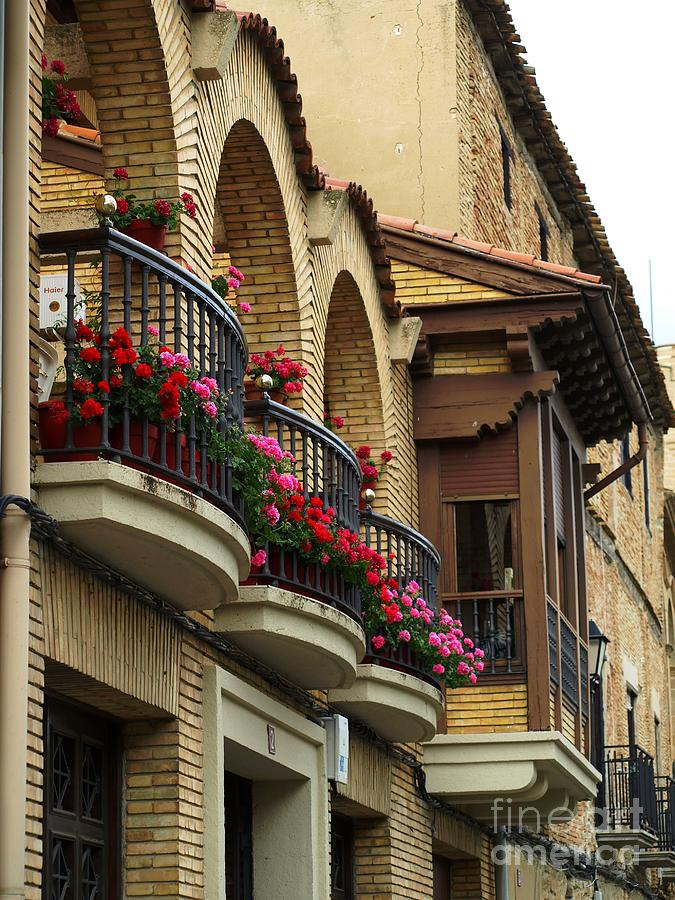 Balcony Photograph - Balconies In Olite by Alfredo Rodriguez