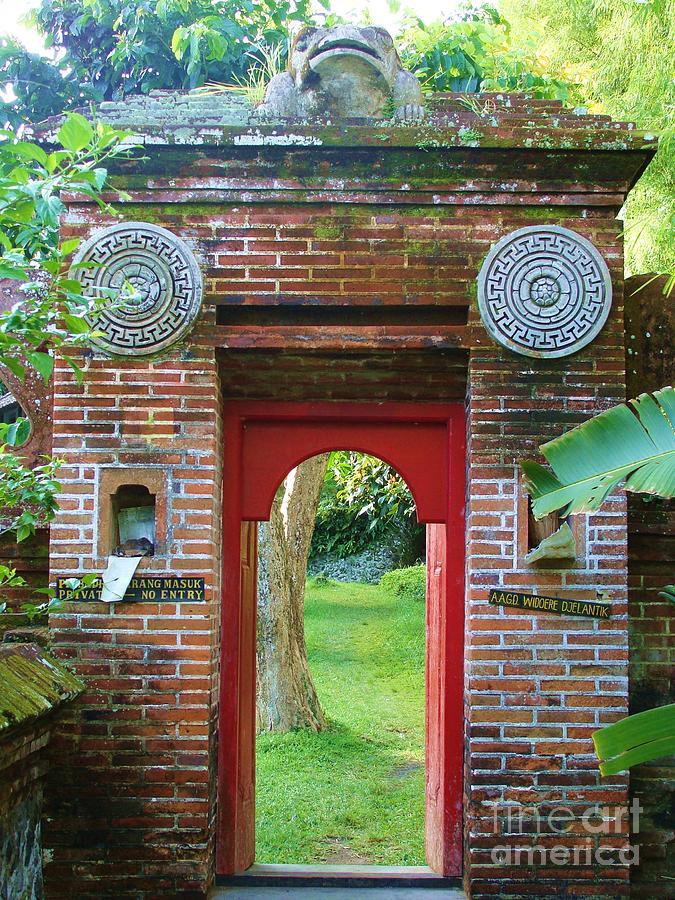 Gate Photograph - Bali Gate by Michelle Matisse