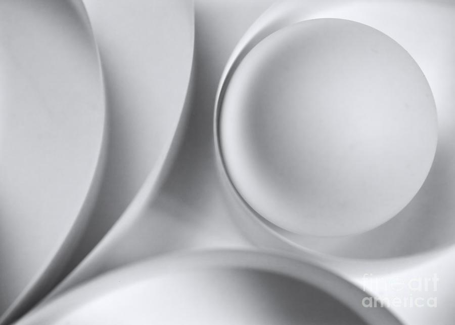 Ball Photograph - Ball And Curves 04 by Nailia Schwarz