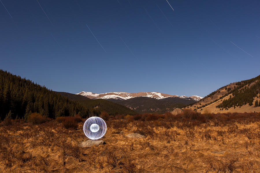 Landscape Photograph - Ball Of Light Geneva Creek Valley by Richard Steinberger