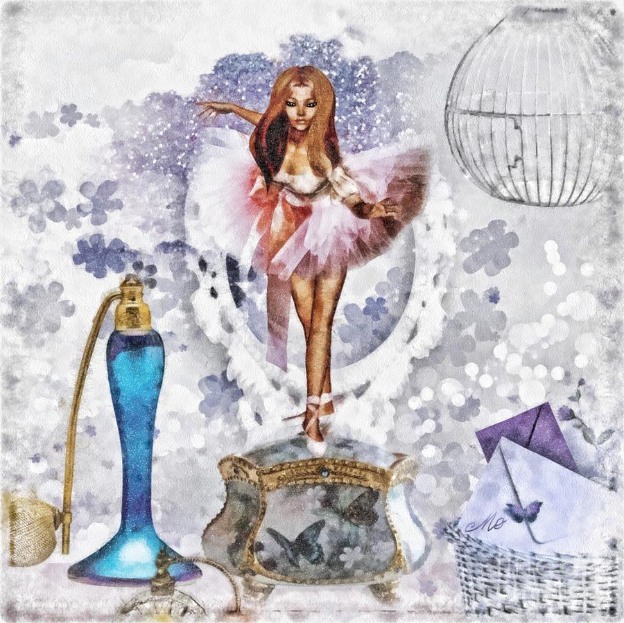 Ballerina Mixed Media - Ballerina by Mo T