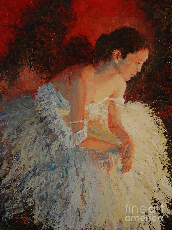 Oil Painting - Ballerina Pondering by Colleen Murphy