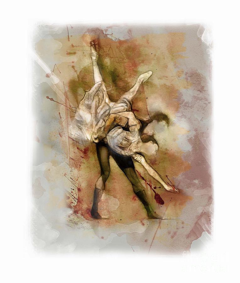 Dancers Dance Ballet Mixed Media - Ballet by James Robinson
