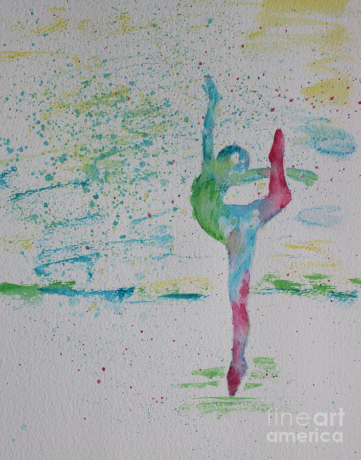 Ballet Painting - Ballet Pointe 2 by Carolyn Weir