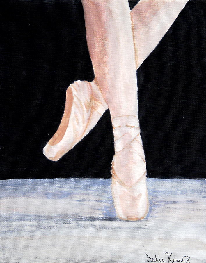 Ballet Painting - Ballet Shoes by Julie Kraft