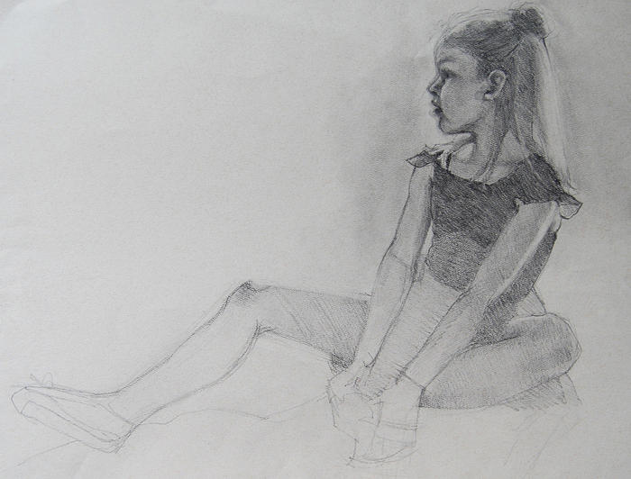 Ballet Shoes Wip Drawing By Jani Freimann