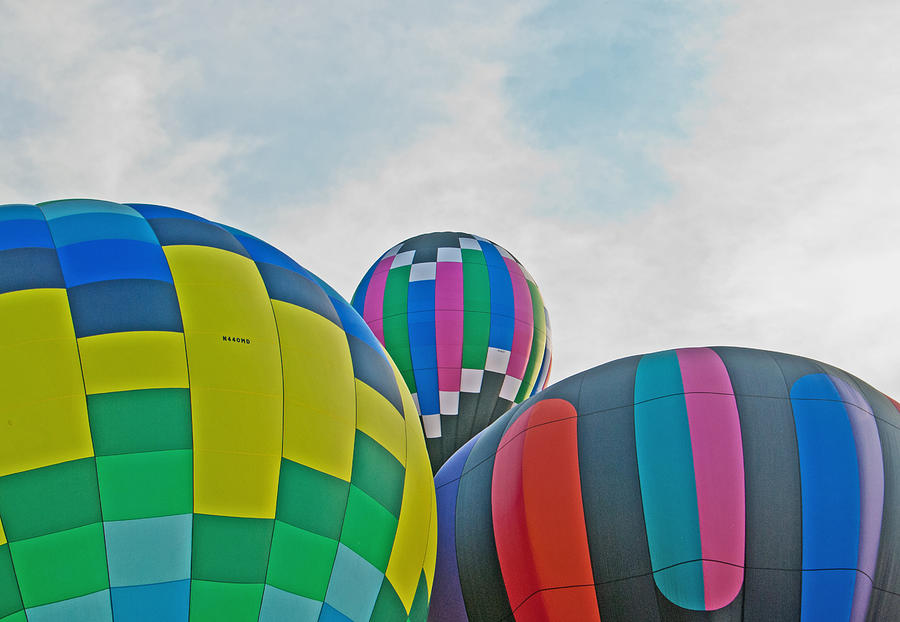 Balloons Photograph - Balloon Cluster by Carolyn Meuer-Pickering of Photopicks Photography and Art