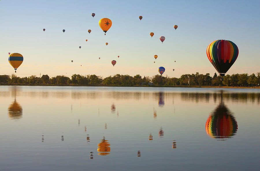 Horizontal Photograph - Balloon Festival by Lightvision, LLC