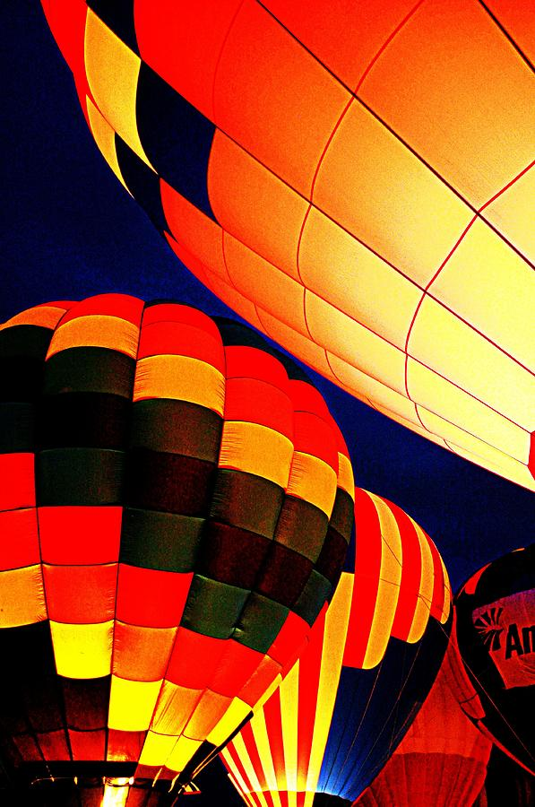 Hot Air Baloon Photograph - Balloon Glow 1 by Marty Koch