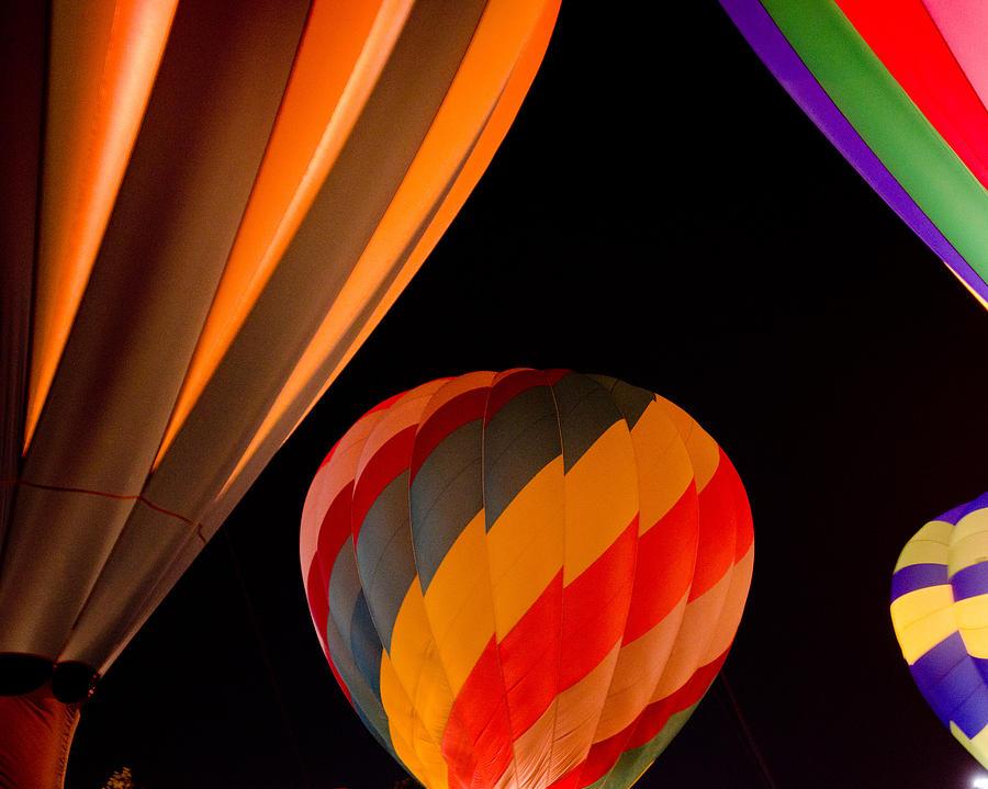 Hot Air Balloons Photograph - Balloon Glow  by Carol Norman