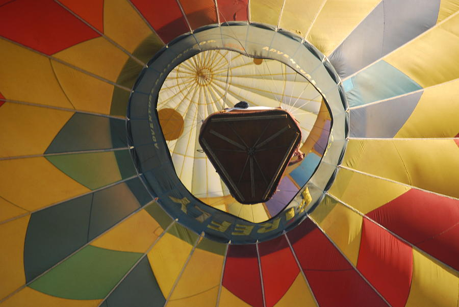 Hot Air Balloon Photograph - Balloon Over Me by Alan Holbrook