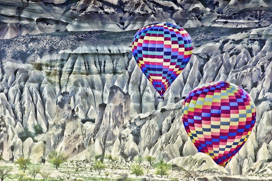 Balloon Rides Photograph - Balloon Rides In Cappadocia by Beverly Hanson