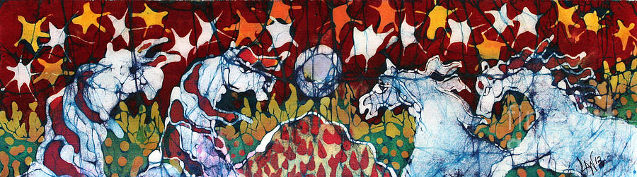 Horse Tapestry - Textile - Band Of Horses by Carol Law Conklin