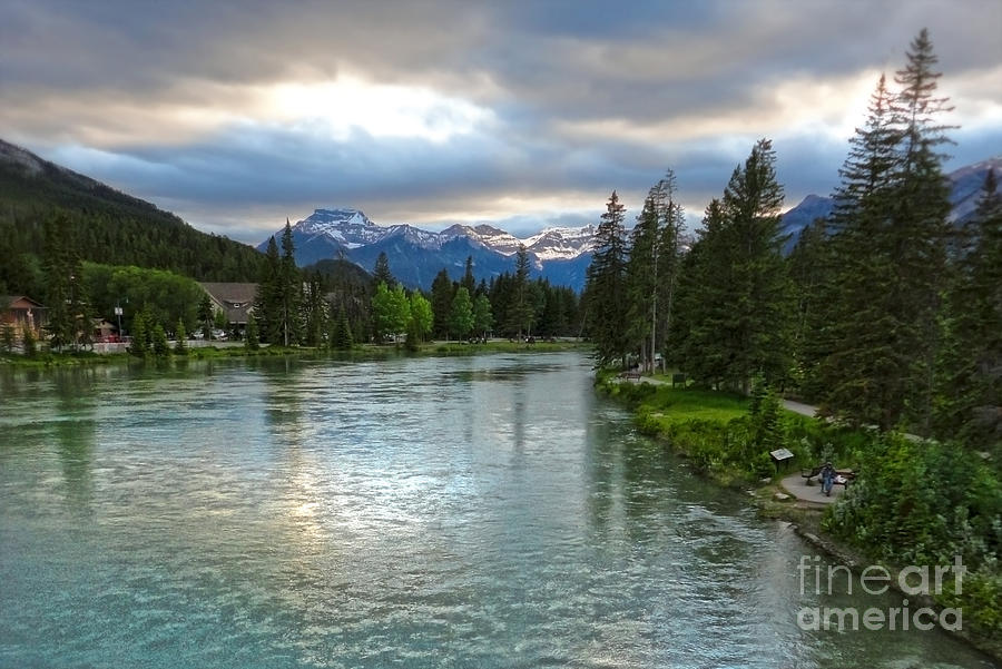 Banff Painting - Banff And The Bow River - 02 by Gregory Dyer