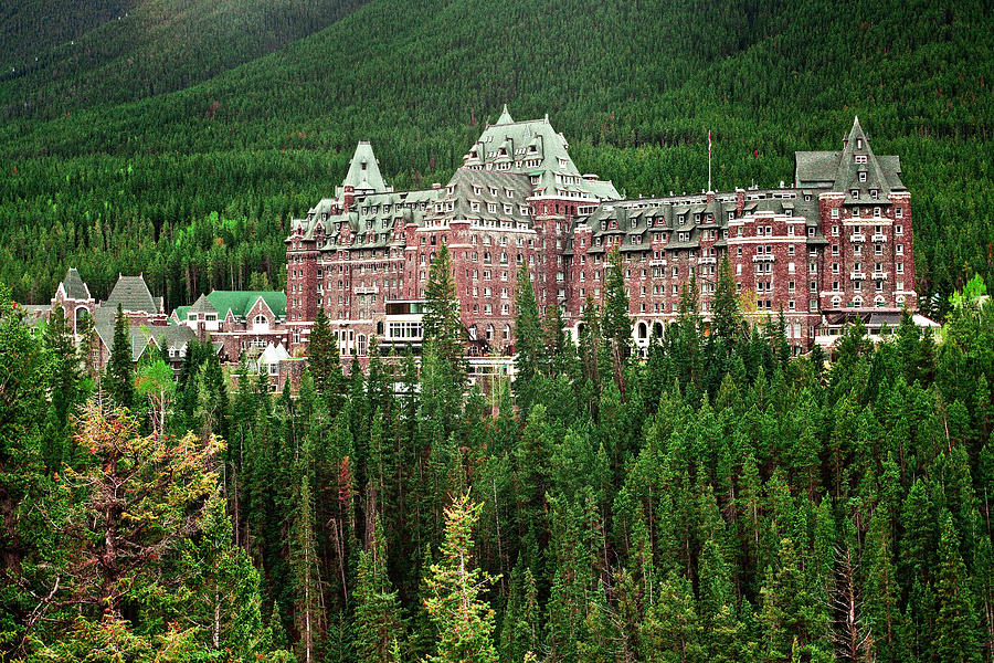 Canadian Rockies Photograph - Banff Hotel 1607 by Larry Roberson