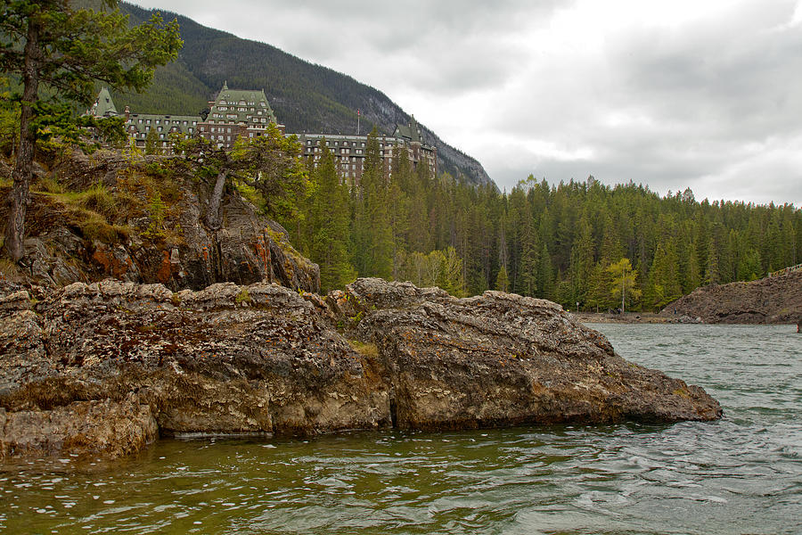 Canadian Rockies Photograph - Banff Hotel 1762 by Larry Roberson