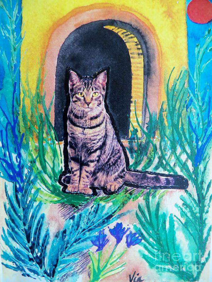 Cat Mixed Media - Banjo Banjo Banjo by Judy Via-Wolff