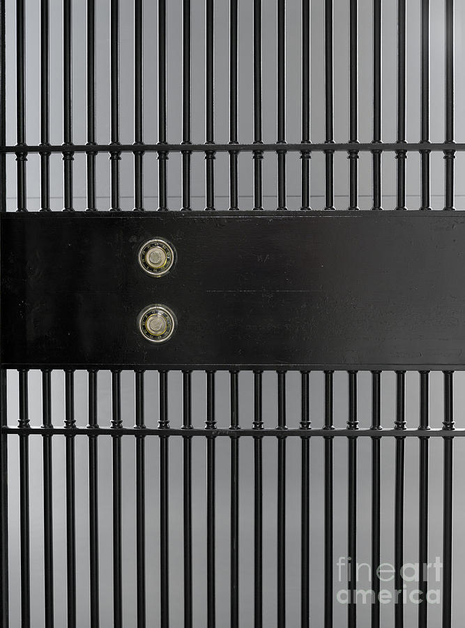 Banking Photograph - Bank Vault Gate by Adam Crowley