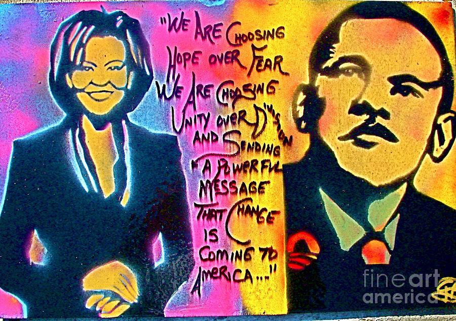 Barack Obama Painting - Barack And Michelle by Tony B Conscious
