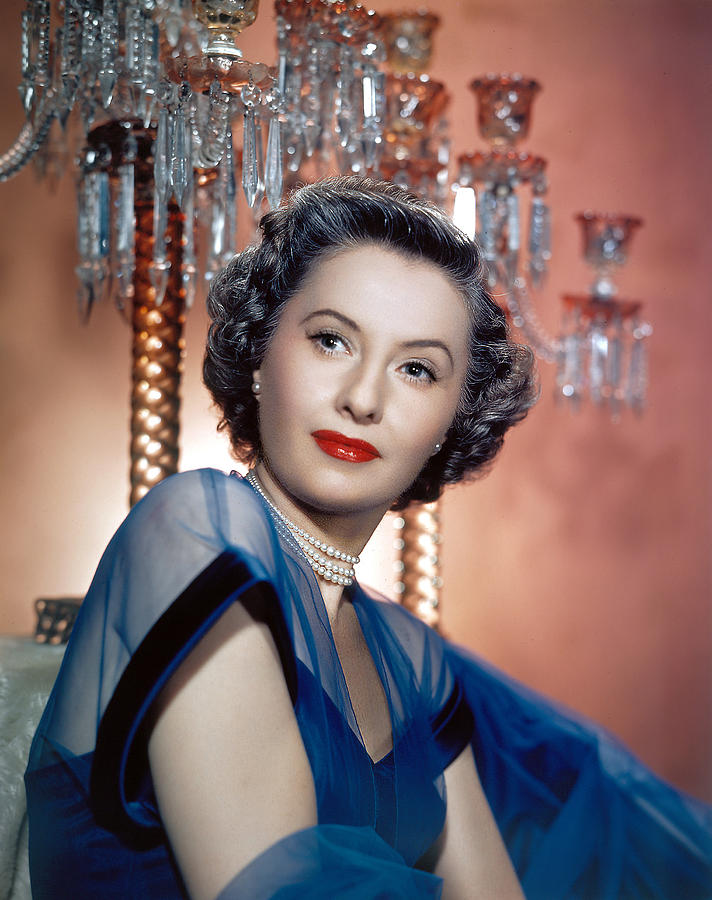 Blue Dress Photograph - Barbara Stanwyck, 1950s by Everett