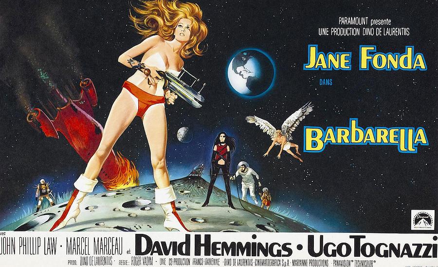 1968 Movies Photograph - Barbarella, Jane Fonda On Poster Art by Everett
