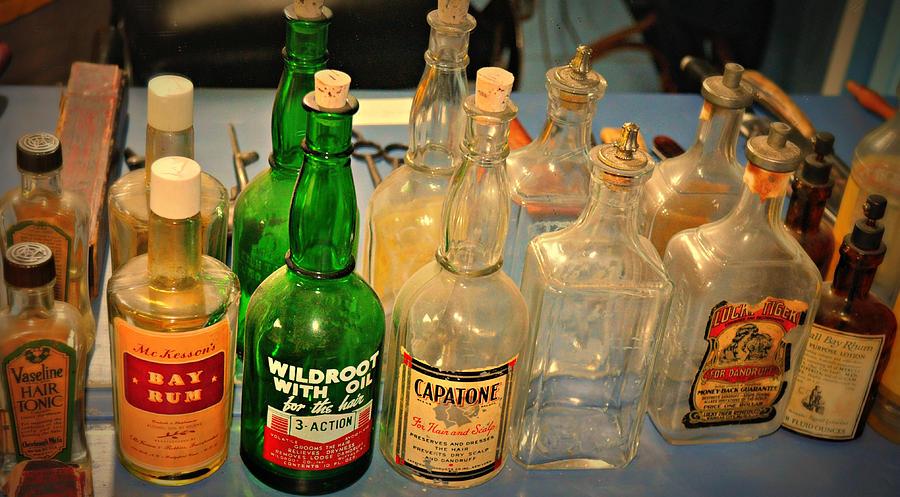 Bottles Photograph - Barber Bottles by Marty Koch