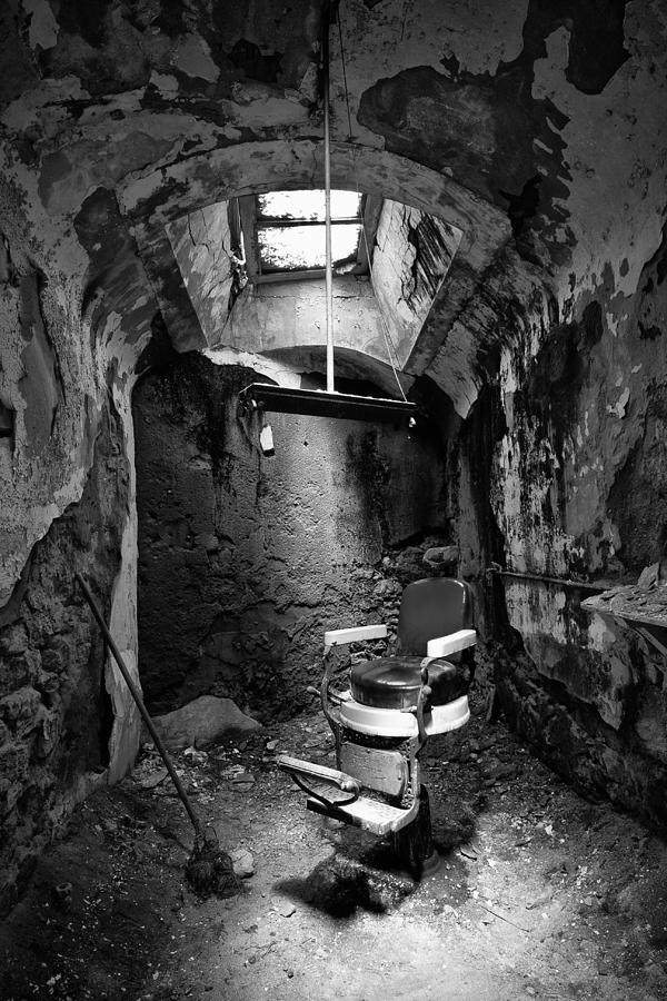 Barber Chair Black And White Photograph By Darren Creighton