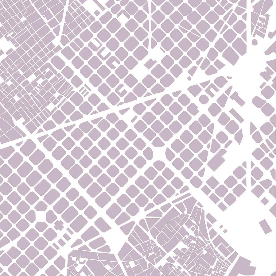 Barcelona Digital Art - Barcelona Fragment by Gytaute Akstinaite