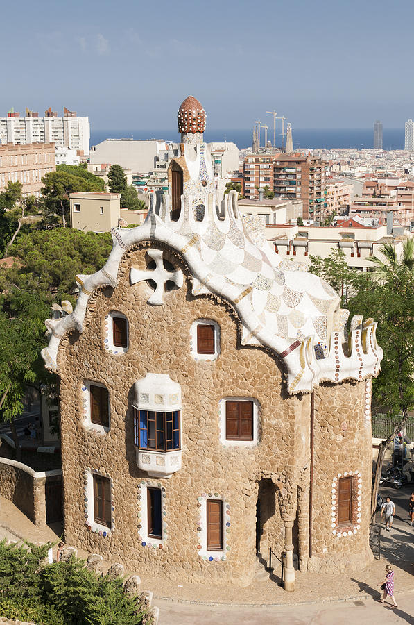 Parc Guell Photograph - Barcelona Parc Guell by Matthias Hauser