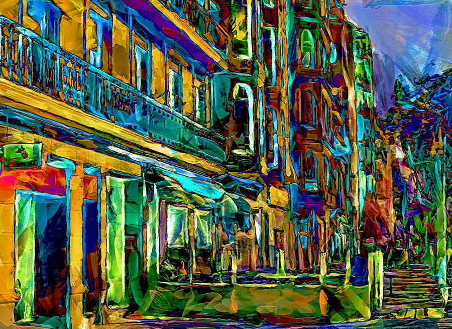 Barcelona Digital Art - Barcelona Streets Two by Yury Malkov