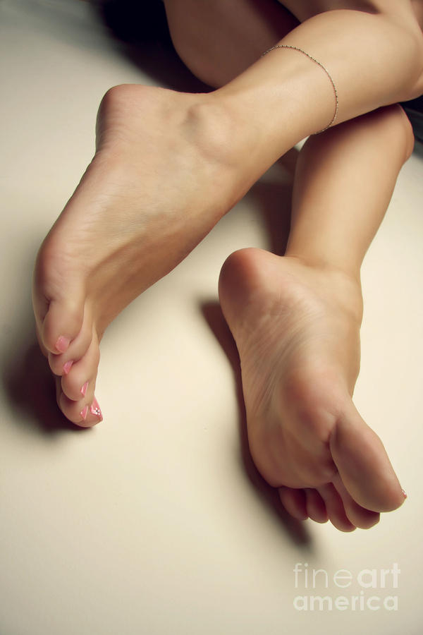 Feet Photograph - Bare On The Wall by Tos Photos