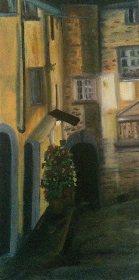 Buildings Painting - Barga Night Lights by Betty Pimm