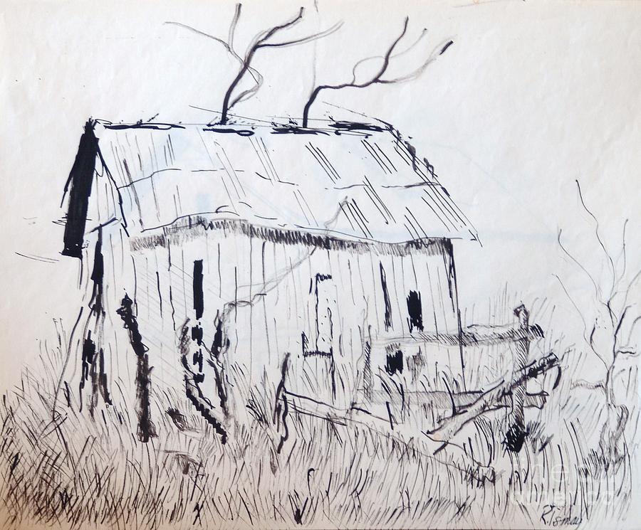 Barn Drawing - Barn 1 by Rod Ismay