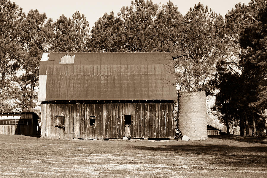 Barn Photograph - Barn And Silo 1 by Douglas Barnett