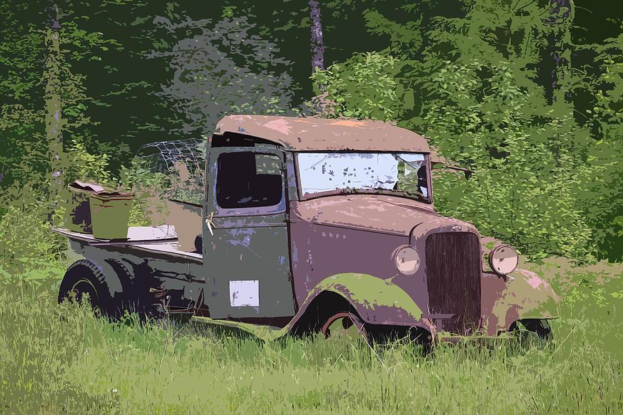 Chevy Truck Photograph - Barn Fresh Pickup by Steve McKinzie