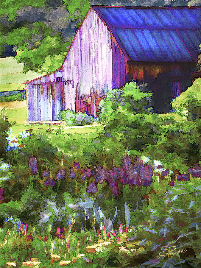 Barn Painting - Barn In The Hollow by Suni Roveto