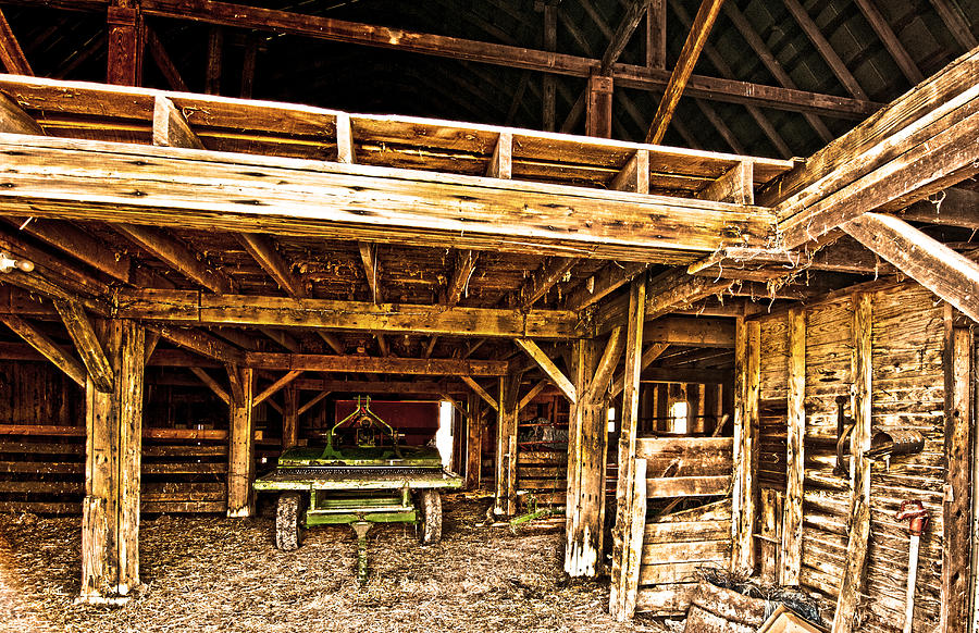 Barn Interior Photograph By Randall Branham