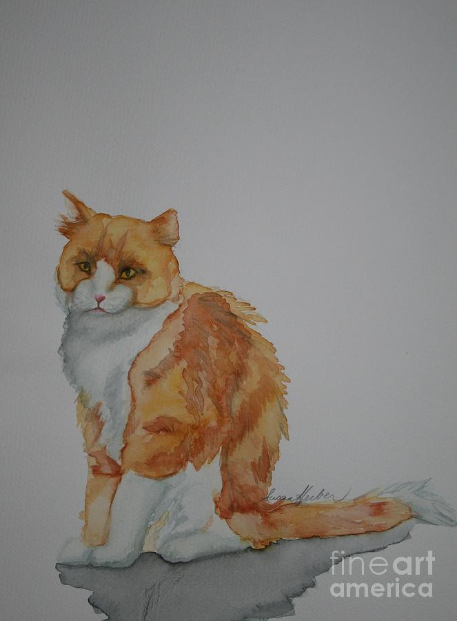Cat Painting - Barn Keeper by Susan Herber