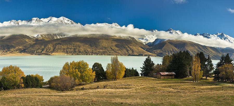 Barn Near Lake Pukaki And Ben Ohau Photograph by Colin Monteath