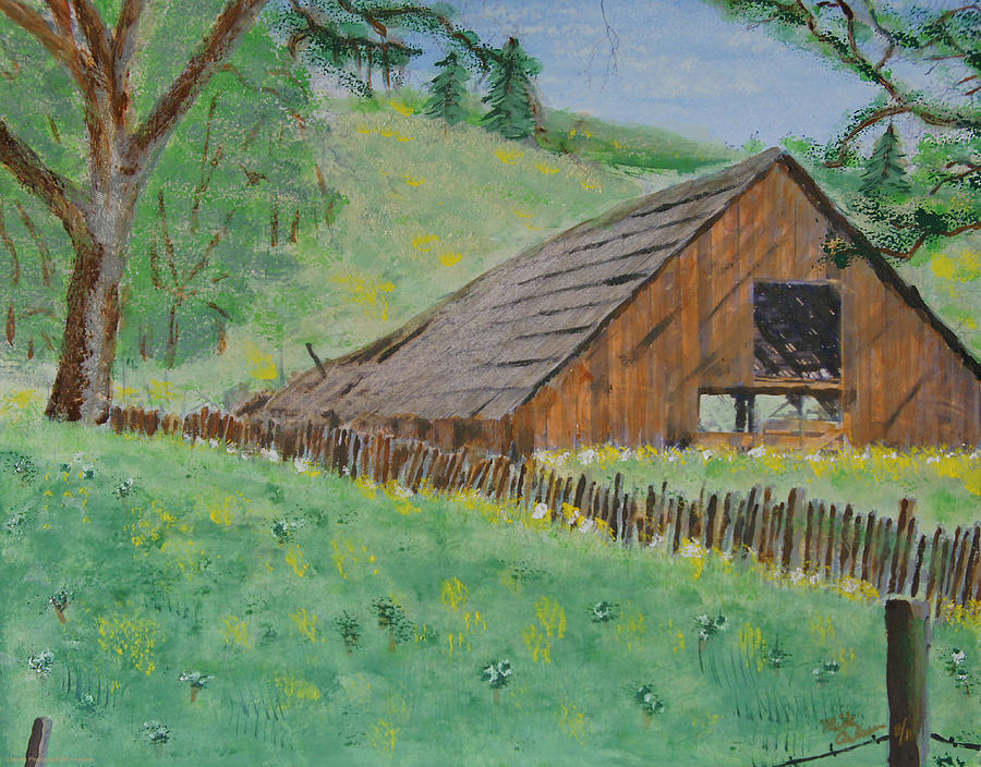 Acrylic Photograph - Barn On Hiway 20 by Mick Anderson