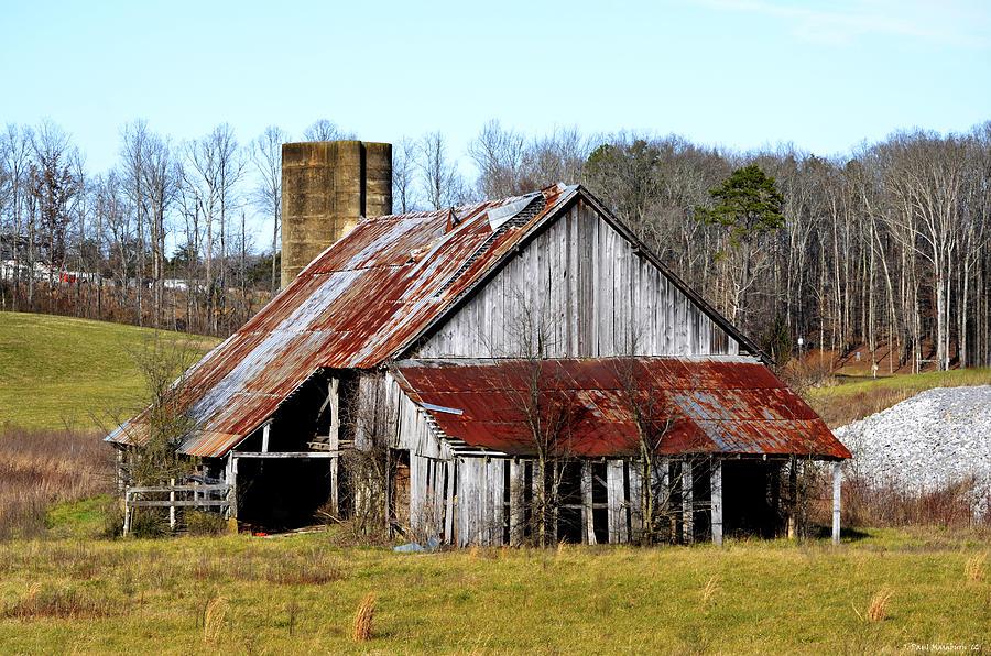 Barn With Silo Photograph by Paul Mashburn