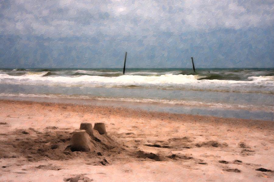 Paradise Digital Art - Barnacle Bills And The Sandcastle by Betsy Knapp