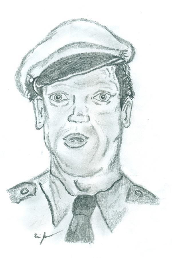 Barney Drawing - Barney by Eric Jones